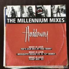 Discos de vinilo: HADDAWAY - THE MILLENNIUM MIXES - 12'' MAXISINGLE COCONUT 1999. Lote 202581928