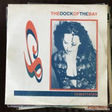 Disques de vinyle: INMORTALES - THE DOCK OF THE BAY - 12'' MAXISINGLE SPANIC 1994. Lote 202583390
