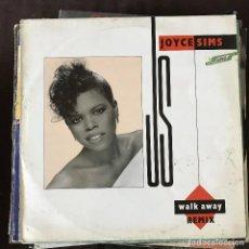 Discos de vinilo: JOYCE SIMS - WALK AWAY (REMIX) - 12'' MAXISINGLE LONDON 1988. Lote 202584868