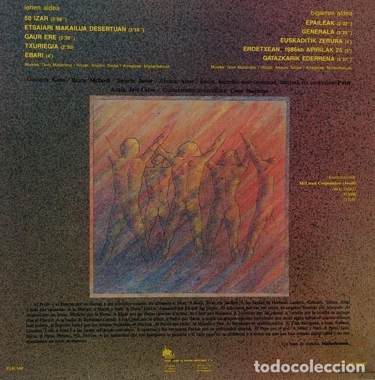 Discos de vinilo: LP ETSAIAN MAKAILUA DESERTUAN - MADARIKATUAK - punk - alternative rock-ORIGINAL 1987 - Foto 2 - 202590645