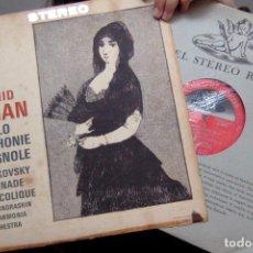 Discos de vinilo: LEONID KOGAN - LALO SYMPHONIE ESPAGNOLE. TCHAIKOVSKY. 1960, ORIGINAL STEREO, LONDON.. Lote 202590957