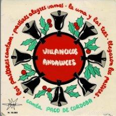 Discos de vinilo: VILLANCICOS ANDALUCES - CANTA PACO DE CORDOBA / EP DE 1964 RF-4284 , BUEN ESTADO. Lote 202594181