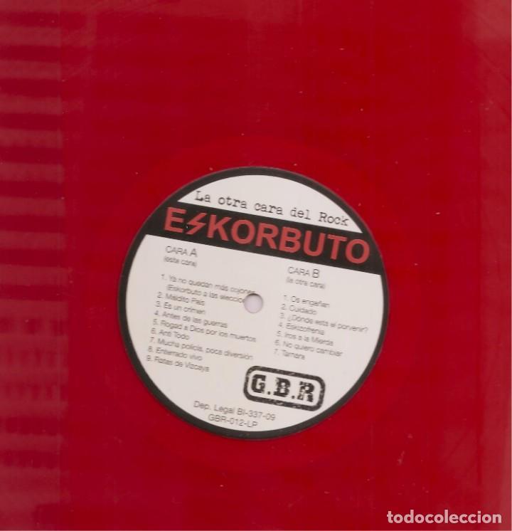 Discos de vinilo: LP LA OTRA CARA DEL ROCK - ESKORBUTO - REEDICIÓN 2014 - RED VINYL - Foto 2 - 202598937