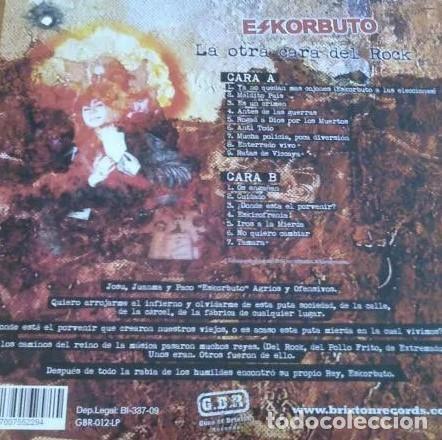 Discos de vinilo: LP LA OTRA CARA DEL ROCK - ESKORBUTO - REEDICIÓN 2014 - RED VINYL - Foto 3 - 202598937