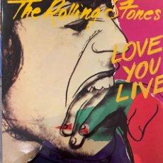 Discos de vinilo: THE ROLLING STONES - LOVE YOU LIVE. DOBLE LP VINILO 1977, ORIGINAL SPAIN. Lote 202607372