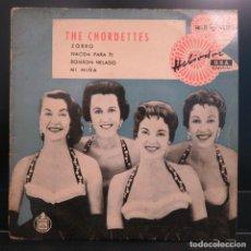 Discos de vinilo: THE CHORDETTES EP LOLLIPOP BOMBON HELADO 1959. Lote 202614382