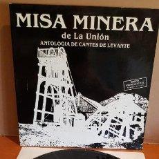Discos de vinilo: ANTOLOGÍA DE CANTES DE LEVANTE / MISA MINERA DE LA UNIÓN / LP-GATEFOLD / PROMO / IMPECABLE / RARO.. Lote 202623192