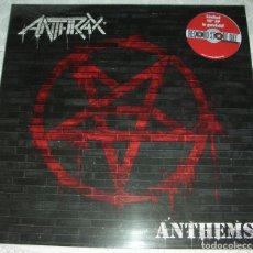 Disques de vinyle: ANTHRAX – ANTHEMS - 10'' EP VINILO ROJO EDICION LIMITADA RSD 2013 - PRECINTADO A ESTRENAR. Lote 202628453