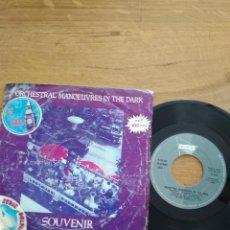 Discos de vinilo: ORCHESTRAL MANOEUVRES IN THE DARK / SOUVENIR / SACRED HEART. Lote 202633025