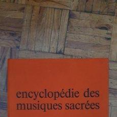 Discos de vinilo: ENCYCLOPÉDIE DES MUSIQUES SACRÉES - CAJA QUE CONTIENE 8 DISCOS DE 33 RPM (PERO FORMATO 45 TR). Lote 202659753