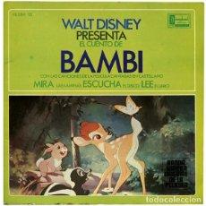 Discos de vinilo: WALT DISNEY PRESENTA EL CUENTO DE BAMBI - EP HISPAVOX 1967. Lote 202674788