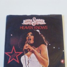 Discos de vinilo: DONNA SUMMER HEAVEN KNOWS / ONLY ONE MAN ( 1978 CASABLANCA UK ). Lote 202682466