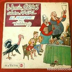 Discos de vinilo: VALENTI CASTANYS (EP. NAVIDAD 1964) LA FAMILIA SISTACS CELEBRA NADAL, EL PESSEBRE -HISTÒRIA DE NADAL. Lote 202682978