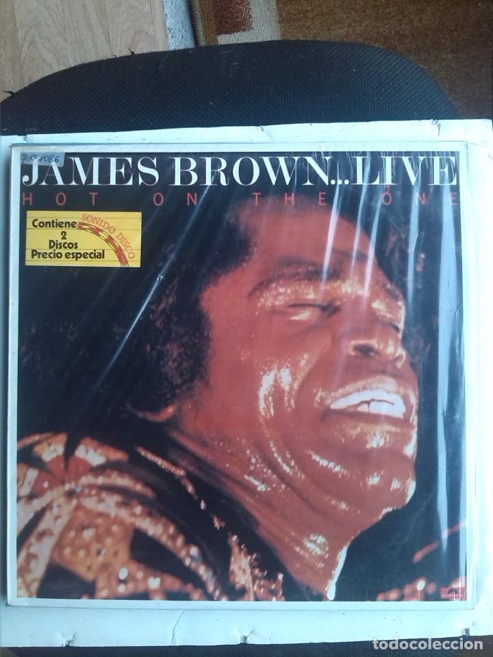 JAMES BROWN - HOT ON THE ONE LIVE 2 LPS (Música - Discos - LP Vinilo - Funk, Soul y Black Music)