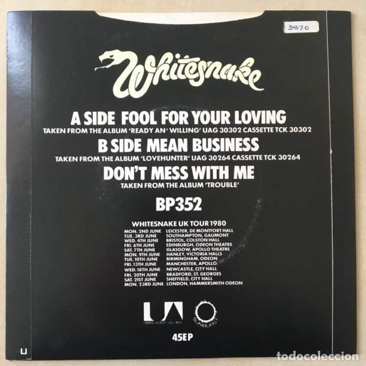 Discos de vinilo: Whitesnake ?– Fool For Your Loving, Luminous Sleeve, UK 1980 United Artist Records - Foto 2 - 202692115