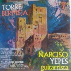 Discos de vinilo: NARCISO YEPES: TORRE BERMEJA, MADROÑOS, SUEÑO, EL POBRE PAGÉS,CANÇÓ DEL LLADRE - EP 1963. Lote 202692148