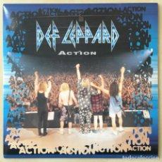 Discos de vinilo: DEF LEPPARD ?– ACTION, UK 1994 BLUDGEON RIFFOLA. Lote 202693136