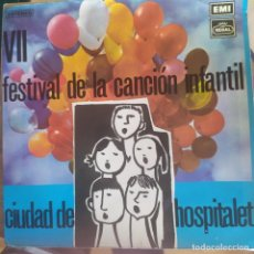 Discos de vinilo: VII FESTIVAL CANCION INFANTIL CIUDAD HOSPITALET - MARTA I MARIA DELS ANGELS,MARI MERCHE + 2 1972. Lote 202694947