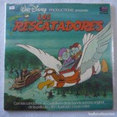 Discos de vinil: WALT DISNEY PRODUCTIONS PRESENTA LOS RESCATADORES - LP 1977. Lote 202695865