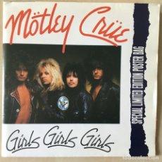 Discos de vinilo: MÖTLEY CRÜE – GIRLS GIRLS GIRLS, POSTER, UK 1987 ELEKTRA. Lote 202696208