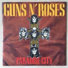 Discos de vinilo: GUNS N' ROSES – PARADISE CITY, UK 1986 GEFFEN RECORDS. Lote 202696408