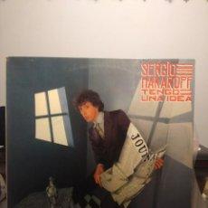 Discos de vinilo: LP SERGIO MAKAROFF : TENGO UNA IDEA (PROMO, CONTIENE TAMBIEN 3 HOJAS PROMODCIONALES ). Lote 202699062