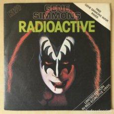 Discos de vinilo: KISS, GENE SIMMONS – RADIOACTIVE, RED + MASK, UK 1979 CASABLANCA. Lote 202699562