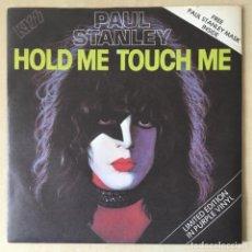 Discos de vinilo: KISS, PAUL STANLEY – HOLD ME, TOUCH ME, PURPLE + MASK, UK 1979 CASABLANCA. Lote 202699845