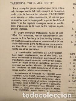 Discos de vinilo: LP TARTESSOS : TIEMPO MUERTO (EXCELENTE POP ROCK ESPAÑOL DE LOS 70) - Foto 3 - 202701407