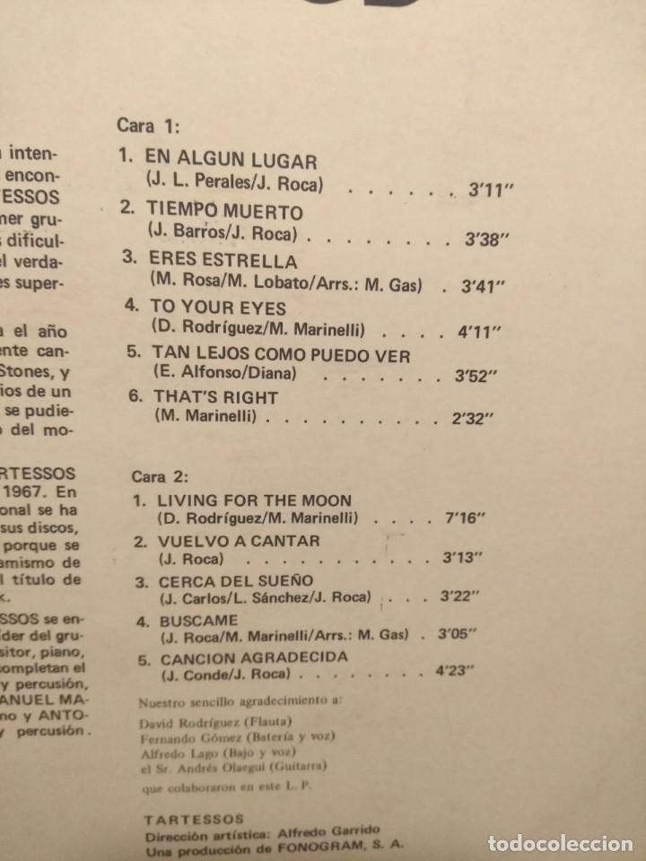 Discos de vinilo: LP TARTESSOS : TIEMPO MUERTO (EXCELENTE POP ROCK ESPAÑOL DE LOS 70) - Foto 4 - 202701407