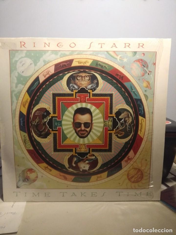 LP RINGO STARR : TIME TAKES TIME (CON JEFF LYNNE, TOM PETTY, JELLYFISH & HARRY NILSSON ) (Música - Discos - LP Vinilo - Pop - Rock - New Wave Extranjero de los 80)