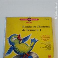 Discos de vinilo: RONDES ET CHANSONS DE FRANCE Nº 1 ( 1968 PHILIPS ). Lote 202713422