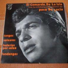 Discos de vinilo: SINGLE EL CAMARÓN DE LA ISLA CON PACO DE LUCÍA. PHILIPS 62 24 006.. Lote 202717470