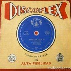 Discos de vinilo: VALSES DE STRAUSS (DISCOFLEX SINGLE 1961 33 RPM) EL DANIVIO AZUL - VALS DEL EMPERADOR. Lote 202719353