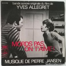 Discos de vinilo: PIERRE JANSEN. MORDS PAS, ON T'AIME! (BSO) L'ESCAPADE/ LE CLOCHER/ LE SUPERMARCHE PATHE MARCONI 1976. Lote 202720943
