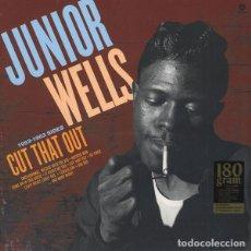 Discos de vinilo: JUNIOR WELLS CUT THAT OUT 1953-1963 SIDES LP NUEVO. Lote 202727332
