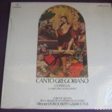 Discos de vinilo: CANTO GREGORIANO - LA PASCUA - LA MISA LP COLUMBIA - CORO MONJES ABADIA SAN PEDRO SOLESMES. Lote 202743838