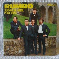Discos de vinilo: RUMBO - SUEÑOS DE ABRIL (CANTA TONY) / POCA COSA (CANTA JORDI) RARO SINGLE 1973 ARTYPHON - IMPECABLE. Lote 202752178