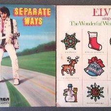 Discos de vinilo: LOTE LPS ELVIS SEPARATE WAYS SINGS THE WONDERFUL WORLD OF CHRISTMAS. Lote 202760791