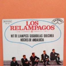 Discos de vinilo: LOS RELAMPAGOS - NIT DE LLAMPECS / SEGUIDILLAS / DULCINEA /NOCHES DE ANDALUCIA -SINGLE / ZAFIRO 1965. Lote 202760913
