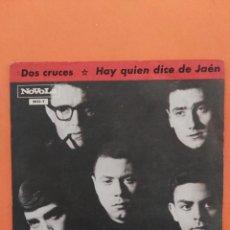 Discos de vinilo: LOS RELAMPAGOS DOS CRUCES/HAY QUIEN DICE DE JAEN 7'' SINGLE 1965 NOVOLA. Lote 202761215