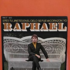 Discos de vinilo: RAPHAEL, EP, JINETES EN EL CIELO+ 3, AÑO 1969. Lote 202761851