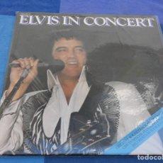 Discos de vinilo: PRECIOSO LP DOBLE ELVIS IN CONCERT UK 70S MUY BUEN ESTADO GIRA DEL 77. Lote 202762116