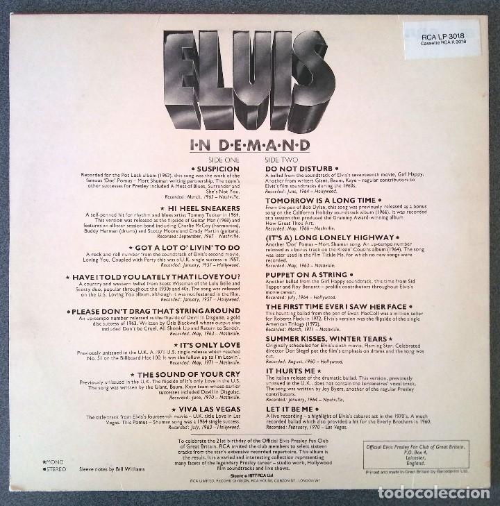 Discos de vinilo: Lp Elvis In Demand - Foto 3 - 202762265
