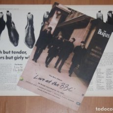 Discos de vinilo: THE BEATLES LIVE AT THE BBC 1994 AD & REVIEW UK PROMO LP MOJO MAGAZINE CLIPPINGS. Lote 202766766
