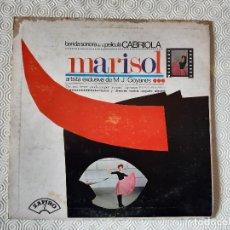 Discos de vinilo: LP VINILO MARISOL. BANDA SONORA DE LA PELICULA CABRIOLA. 1965.. Lote 202767767