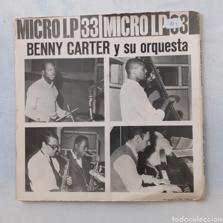 Discos de vinilo: Benny Carter. Hispavox HZ 224-03. España 1962. Funda VG. Disco VG++. - Foto 3 - 202785763