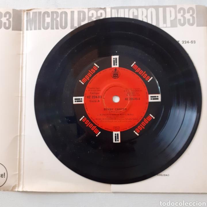 Discos de vinilo: Benny Carter. Hispavox HZ 224-03. España 1962. Funda VG. Disco VG++. - Foto 5 - 202785763