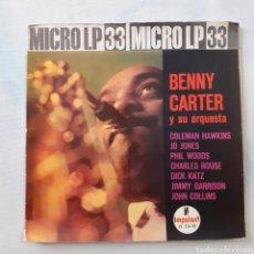 Discos de vinilo: BENNY CARTER. HISPAVOX HZ 224-03. ESPAÑA 1962. FUNDA VG. DISCO VG++.. Lote 202785763