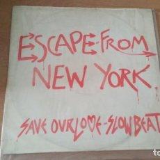 Discos de vinilo: ESCAPE FRON NEW YORK SAVE OUR LOVE SLOW BEAT POLYDOR 1983 ENGLAND. Lote 202790777